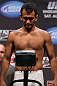 LOS ANGELES - AUGUST 03: Rany Yahya makes weight during the UFC on FOX weigh in at Staples Center on August 3, 2012 in Los Angeles, California. (Photo by Josh Hedges/Zuffa LLC/Zuffa LLC via Getty Images)
