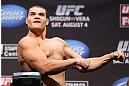 LOS ANGELES - AUGUST 03: Wagner Prado makes weight during the UFC on FOX weigh in at Staples Center on August 3, 2012 in Los Angeles, California. (Photo by Josh Hedges/Zuffa LLC/Zuffa LLC via Getty Images)