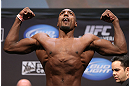 LOS ANGELES - AUGUST 03: Phil Davis makes weight during the UFC on FOX weigh in at Staples Center on August 3, 2012 in Los Angeles, California. (Photo by Josh Hedges/Zuffa LLC/Zuffa LLC via Getty Images)