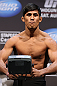 LOS ANGELES - AUGUST 03: Nam Phan makes weight during the UFC on FOX weigh in at Staples Center on August 3, 2012 in Los Angeles, California. (Photo by Josh Hedges/Zuffa LLC/Zuffa LLC via Getty Images)