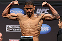 LOS ANGELES - AUGUST 03: DaMarques Johnson makes weight during the UFC on FOX weigh in at Staples Center on August 3, 2012 in Los Angeles, California. (Photo by Josh Hedges/Zuffa LLC/Zuffa LLC via Getty Images)