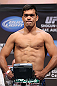 LOS ANGELES - AUGUST 03: Lyoto Machida makes weight during the UFC on FOX weigh in at Staples Center on August 3, 2012 in Los Angeles, California. (Photo by Josh Hedges/Zuffa LLC/Zuffa LLC via Getty Images)