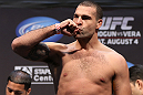 LOS ANGELES - AUGUST 03: Mauricio ''Shogun'' Rua makes weight during the UFC on FOX weigh in at Staples Center on August 3, 2012 in Los Angeles, California. (Photo by Josh Hedges/Zuffa LLC/Zuffa LLC via Getty Images)