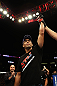 LOS ANGELES, CA - AUGUST 04:  Lyoto Machida celebrates his win over Ryan Bader by way of knock out in the second round during the UFC on FOX at Staples Center on August 4, 2012 in Los Angeles, California.  (Photo by Josh Hedges/Zuffa LLC via Getty Images)