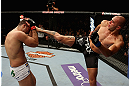 LOS ANGELES, CA - AUGUST 04:  Brandon Vera (R) kicks Shogun Rua (L) in their light heavyweight bout during the UFC on FOX at Staples Center on August 4, 2012 in Los Angeles, California. Rua defeated Vera by way of TKO in the fourth round.  (Photo by Josh Hedges/Zuffa LLC/Zuffa LLC via Getty Images)