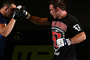 DENVER, CO - AUGUST 08:  Jake Shields works out for the media during the UFC 150 open workouts at the Muscle Pharm Sports Science Center on August 8, 2012 in Denver, Colorado. (Photo by Josh Hedges/Zuffa LLC/Zuffa LLC via Getty Images)