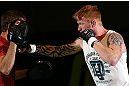 DENVER, CO - AUGUST 08:  Ed Herman works out for the media during the UFC 150 open workouts at the Muscle Pharm Sports Science Center on August 8, 2012 in Denver, Colorado. (Photo by Josh Hedges/Zuffa LLC/Zuffa LLC via Getty Images)