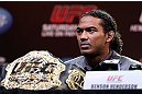 DENVER, CO - AUGUST 09:  Benson Henderson interacts with media and fans during the UFC 150 press conference at the Fillmore Auditorium on August 9, 2012 in Denver, Colorado. (Photo by Josh Hedges/Zuffa LLC/Zuffa LLC via Getty Images)