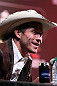 "DENVER, CO - AUGUST 09:  Donald ""Cowboy"" Cerrone interacts with media and fans during the UFC 150 press conference at the Fillmore Auditorium on August 9, 2012 in Denver, Colorado. (Photo by Josh Hedges/Zuffa LLC/Zuffa LLC via Getty Images)"