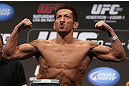 DENVER, CO - AUGUST 10:  Eiji Mitsuoka makes weight during the UFC 150 weigh in at Pepsi Center on August 10, 2012 in Denver, Colorado. (Photo by Josh Hedges/Zuffa LLC/Zuffa LLC via Getty Images)