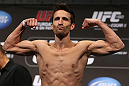DENVER, CO - AUGUST 10:  Ken Stone makes weight during the UFC 150 weigh in at Pepsi Center on August 10, 2012 in Denver, Colorado. (Photo by Josh Hedges/Zuffa LLC/Zuffa LLC via Getty Images)