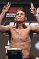 DENVER, CO - AUGUST 10:  Justin Lawrence makes weight during the UFC 150 weigh in at Pepsi Center on August 10, 2012 in Denver, Colorado. (Photo by Josh Hedges/Zuffa LLC/Zuffa LLC via Getty Images)