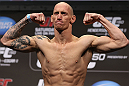 DENVER, CO - AUGUST 10:  Buddy Roberts makes weight during the UFC 150 weigh in at Pepsi Center on August 10, 2012 in Denver, Colorado. (Photo by Josh Hedges/Zuffa LLC/Zuffa LLC via Getty Images)