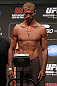 "DENVER, CO - AUGUST 10:  Donald ""Cowboy"" Cerrone makes weight during the UFC 150 weigh in at Pepsi Center on August 10, 2012 in Denver, Colorado. (Photo by Josh Hedges/Zuffa LLC/Zuffa LLC via Getty Images)"