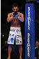 DENVER, CO - AUGUST 11:  Eiji Mitsuoka prepares to enter the Octagon before his bout against Nik Lentz at UFC 150 inside Pepsi Center on August 11, 2012 in Denver, Colorado. (Photo by Josh Hedges/Zuffa LLC/Zuffa LLC via Getty Images)