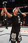 DENVER, CO - AUGUST 11:  Chico Camus reacts after defeating Dustin Pague by decision at UFC 150 inside Pepsi Center on August 11, 2012 in Denver, Colorado. (Photo by Nick Laham/Zuffa LLC/Zuffa LLC via Getty Images)