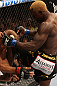 "DENVER, CO - AUGUST 11:  (R-L) Melvin Guillard delivers a knee strike against Donald ""Cowboy"" Cerrone during their lightweight bout at UFC 150 inside Pepsi Center on August 11, 2012 in Denver, Colorado. (Photo by Nick Laham/Zuffa LLC/Zuffa LLC via Getty Images)"
