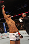 DENVER, CO - AUGUST 11:  Benson Henderson enters the Octagon before his bout against Frankie Edgar at UFC 150 inside Pepsi Center on August 11, 2012 in Denver, Colorado. (Photo by Nick Laham/Zuffa LLC/Zuffa LLC via Getty Images)