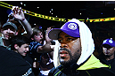 ATLANTA, GA - APRIL 21:  Rashad Evans arrives for his light heavyweight title bout against Jon Jones for UFC 145 at Philips Arena on April 21, 2012 in Atlanta, Georgia.  (Photo by Al Bello/Zuffa LLC/Zuffa LLC via Getty Images)