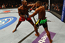 ATLANTA, GA - APRIL 21:  Jon Jones (L) fights Rashad Evans during their light heavyweight title bout for UFC 145 at Philips Arena on April 21, 2012 in Atlanta, Georgia.  (Photo by Al Bello/Zuffa LLC/Zuffa LLC via Getty Images) *** Local Caption *** Jon Jones; Rashad Evans