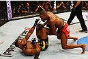 ATLANTA, GA - APRIL 21:  Jon Jones (R) fights Rashad Evans during their light heavyweight title bout for UFC 145 at Philips Arena on April 21, 2012 in Atlanta, Georgia.  (Photo by Al Bello/Zuffa LLC/Zuffa LLC via Getty Images) *** Local Caption *** Jon Jones; Rashad Evans