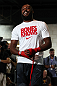 "TORONTO, CANADA - SEPTEMBER 19:   Jon ""Bones"" Jones works out for fans and media during the UFC 152 open workouts at Xtreme Couture Gym on September 19, 2012 in Toronto, Ontario, Canada.  (Photo by Josh Hedges/Zuffa LLC/Zuffa LLC via Getty Images)"