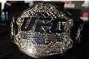 TORONTO, CANADA - SEPTEMBER 20: The UFC light heavyweight championship belt is seen during the UFC 152 pre-fight press conference at Real Sports Bar and Grill on September 20, 2012 in Toronto, Ontario, Canada. (Photo by Josh Hedges/Zuffa LLC/Zuffa LLC via Getty Images)