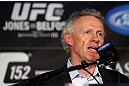 TORONTO, CANADA - SEPTEMBER 20: UFC Director of Canadian Operations Tom Wright interacts with media during the UFC 152 pre-fight press conference at Real Sports Bar and Grill on September 20, 2012 in Toronto, Ontario, Canada. (Photo by Josh Hedges/Zuffa LLC/Zuffa LLC via Getty Images)