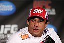 TORONTO, CANADA - SEPTEMBER 20: Vitor Belfort interacts with media during the UFC 152 pre-fight press conference at Real Sports Bar and Grill on September 20, 2012 in Toronto, Ontario, Canada. (Photo by Josh Hedges/Zuffa LLC/Zuffa LLC via Getty Images)