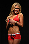 TORONTO, CANADA - SEPTEMBER 21: UFC Octagon Girl Brittney Palmer stands on stage during the UFC 152 weigh in at Mattamy Athletic Centre at the Gardens on September 21, 2012 in Toronto, Ontario, Canada. (Photo by Mike Roach/Zuffa LLC/Zuffa LLC via Getty Images)