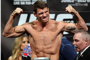 TORONTO, CANADA - SEPTEMBER 21: Michael Bisping weighs in during the UFC 152 weigh in at Mattamy Athletic Centre at the Gardens on September 21, 2012 in Toronto, Ontario, Canada. (Photo by Josh Hedges/Zuffa LLC/Zuffa LLC via Getty Images)