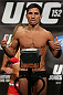 TORONTO, CANADA - SEPTEMBER 21: Joseph Benavidez weighs in during the UFC 152 weigh in at Mattamy Athletic Centre at the Gardens on September 21, 2012 in Toronto, Ontario, Canada. (Photo by Josh Hedges/Zuffa LLC/Zuffa LLC via Getty Images)