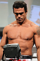 TORONTO, CANADA - SEPTEMBER 21: Vitor Belfort weighs in during the UFC 152 weigh in at Mattamy Athletic Centre at the Gardens on September 21, 2012 in Toronto, Ontario, Canada. (Photo by Mike Roach/Zuffa LLC/Zuffa LLC via Getty Images)