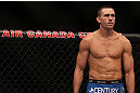 TORONTO, CANADA - SEPTEMBER 22: Kyle Noke stands in the Octagon before his welterweight bout against Charlie Brenneman at UFC 152 inside Air Canada Centre on September 22, 2012 in Toronto, Ontario, Canada. (Photo by Josh Hedges/Zuffa LLC/Zuffa LLC via Getty Images)
