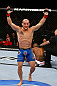 TORONTO, CANADA - SEPTEMBER 22: Mitch Gagnon reacts after defeating Walel Watson by submission during their bantamweight bout at UFC 152 inside Air Canada Centre on September 22, 2012 in Toronto, Ontario, Canada. (Photo by Al Bello/Zuffa LLC/Zuffa LLC via Getty Images)