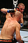 TORONTO, CANADA - SEPTEMBER 22: (L-R) Sean Pierson punches Lance Benoist during their welterweight bout at UFC 152 inside Air Canada Centre on September 22, 2012 in Toronto, Ontario, Canada. (Photo by Al Bello/Zuffa LLC/Zuffa LLC via Getty Images)