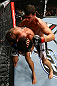 TORONTO, CANADA - SEPTEMBER 22: (R-L) Michael Bisping punches Brian Stann during their middleweight bout at UFC 152 inside Air Canada Centre on September 22, 2012 in Toronto, Ontario, Canada. (Photo by Al Bello/Zuffa LLC/Zuffa LLC via Getty Images)
