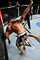 TORONTO, CANADA - SEPTEMBER 22: (L-R) Michael Bisping takes down Brian Stann during their middleweight bout at UFC 152 inside Air Canada Centre on September 22, 2012 in Toronto, Ontario, Canada. (Photo by Al Bello/Zuffa LLC/Zuffa LLC via Getty Images)