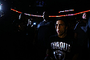 TORONTO, CANADA - SEPTEMBER 22: Joseph Benavidez enters the arena before his flyweight championship bout against Demetrious Johnson at UFC 152 inside Air Canada Centre on September 22, 2012 in Toronto, Ontario, Canada. (Photo by Al Bello/Zuffa LLC/Zuffa LLC via Getty Images)