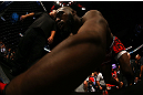 Jon Jones prepares to enter the Octagon before his light heavyweight championship bout against Vitor Belfort at UFC 152 inside Air Canada Centre on September 22, 2012 in Toronto, Ontario, Canada. (Photo by Al Bello/Zuffa LLC/Zuffa LLC via Getty Images)