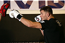 NOTTINGHAM, ENGLAND - SEPTEMBER 26:    Stipe Miocic works out for the media during an open workout session at Gym Combat on September 26, 2012 in Nottingham, England.  (Photo by Josh Hedges/Zuffa LLC/Zuffa LLC via Getty Images)