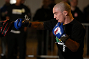 NOTTINGHAM, ENGLAND - SEPTEMBER 26:    Andy Ogle works out for the media during an open workout session at Gym Combat on September 26, 2012 in Nottingham, England.  (Photo by Josh Hedges/Zuffa LLC/Zuffa LLC via Getty Images)