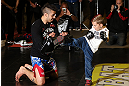 NOTTINGHAM, ENGLAND - SEPTEMBER 26:    Dan Hardy works out for the media during an open workout session at Gym Combat on September 26, 2012 in Nottingham, England.  (Photo by Josh Hedges/Zuffa LLC/Zuffa LLC via Getty Images)