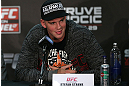 NOTTINGHAM, ENGLAND - SEPTEMBER 27:  Stefan Struve interacts with media during a UFC press conference at the Hilton Hotel on September 27, 2012 in Nottingham, England.  (Photo by Josh Hedges/Zuffa LLC/Zuffa LLC via Getty Images)