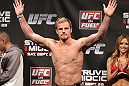 NOTTINGHAM, ENGLAND - SEPTEMBER 28:  Gunnar Nelson weighs in during the UFC on Fuel TV weigh in at Capital FM Arena on September 28, 2012 in Nottingham, England.  (Photo by Josh Hedges/Zuffa LLC/Zuffa LLC via Getty Images)