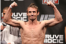 NOTTINGHAM, ENGLAND - SEPTEMBER 28:  Brad Pickett weighs in during the UFC on Fuel TV weigh in at Capital FM Arena on September 28, 2012 in Nottingham, England.  (Photo by Josh Hedges/Zuffa LLC/Zuffa LLC via Getty Images)