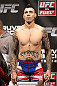 NOTTINGHAM, ENGLAND - SEPTEMBER 28:  Dan Hardy weighs in during the UFC on Fuel TV weigh in at Capital FM Arena on September 28, 2012 in Nottingham, England.  (Photo by Josh Hedges/Zuffa LLC/Zuffa LLC via Getty Images)