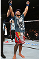 NOTTINGHAM, ENGLAND - SEPTEMBER 29:  Brad Tavares reacts after defeating Tom Watson during their middleweight fight at the UFC on Fuel TV event at Capital FM Arena on September 29, 2012 in Nottingham, England.  (Photo by Josh Hedges/Zuffa LLC/Zuffa LLC via Getty Images)