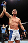 NOTTINGHAM, ENGLAND - SEPTEMBER 29:  Matt Wiman reacts after defeating Paul Sass during their lightweight fight at the UFC on Fuel TV event at Capital FM Arena on September 29, 2012 in Nottingham, England.  (Photo by Josh Hedges/Zuffa LLC/Zuffa LLC via Getty Images)