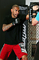 MINNEAPOLIS, MN - OCTOBER 02:  Jay Hieron works out for media and fans during an open training session at Cellar Kickboxing and Martial Arts on October 2, 2012 in Minneapolis, Minnesota.  (Photo by Josh Hedges/Zuffa LLC/Zuffa LLC via Getty Images)